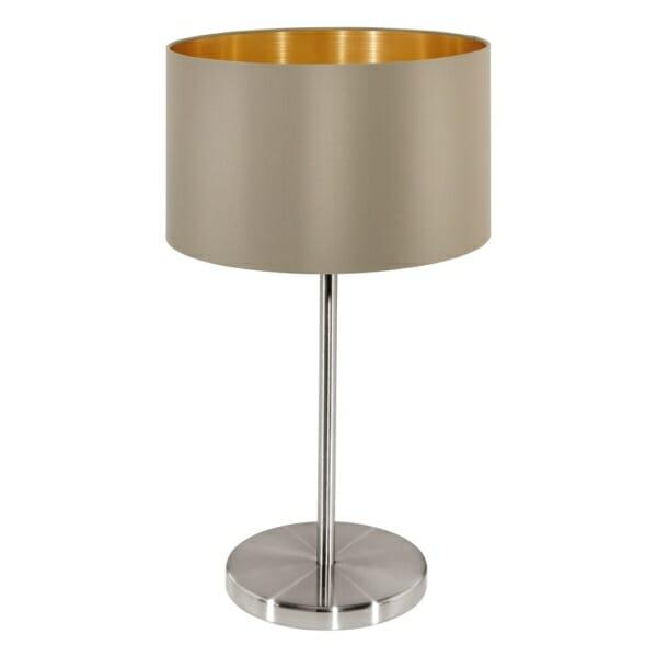 Настолна лампа в таупе и златисто серия Maserlo