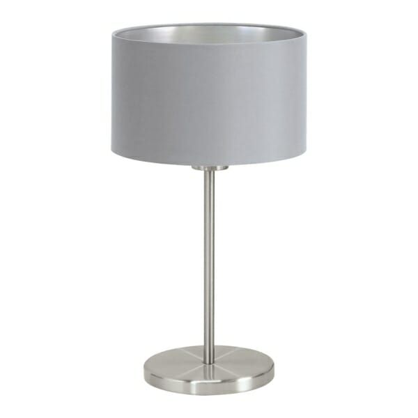 Настолна лампа в сиво и сребристо серия Maserlo
