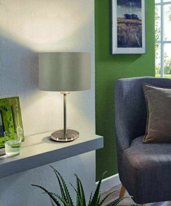 Настолна лампа в таупе и златисто серия Maserlo - интериорна