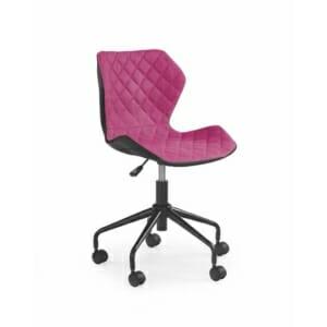 Офис стол от еко кожа текстил и метал (6 цвята)