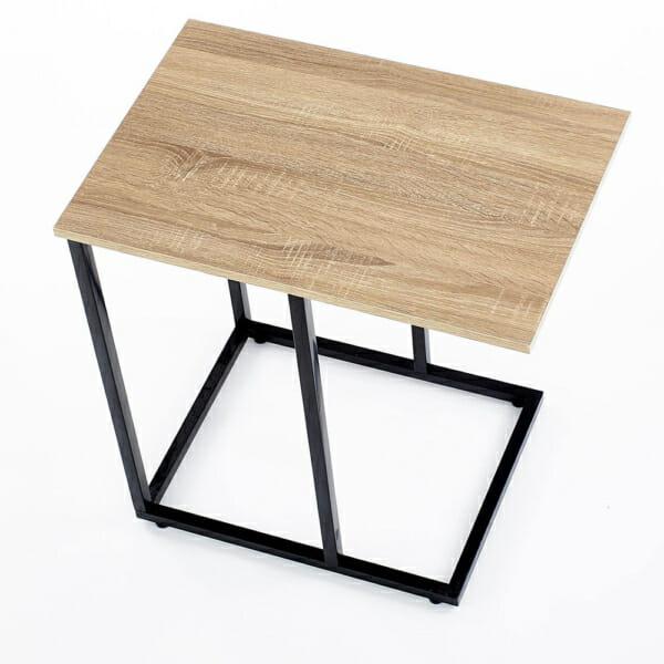 Помощна квадратна маса в индустриален стил серия Narvik-изглед