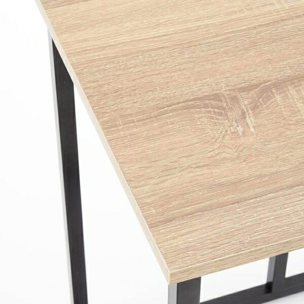 Помощна квадратна маса в индустриален стил серия Narvik-отгоре