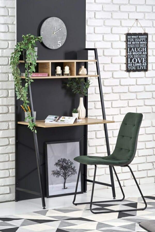 Работно бюро с етажерка в индустриален стил серия Narvik-декорация