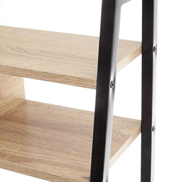 Работно бюро с етажерка в индустриален стил серия Narvik-детайл конструкция