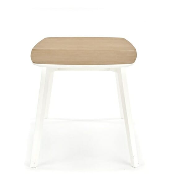 Разтегателна маса за трапезария в бяло и меден дъб - странично