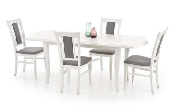 Разтегателна трапезна маса от дърво (3 цвята 2 размера) - бяла