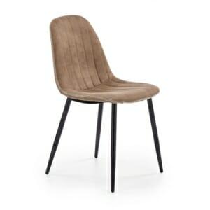 Стол със седалка и облегалка от еко кожа и метални крака - заглавна