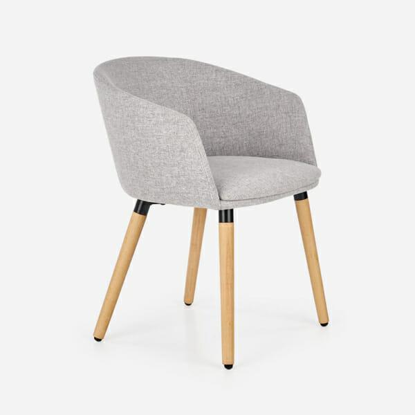 Тапициран стол с подлакътници в скандинавски стил (3 цвята)-бежов