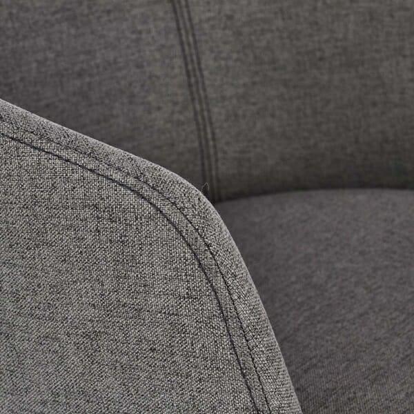 Тапициран стол с подлакътници в скандинавски стил (3 цвята)-сив детайл