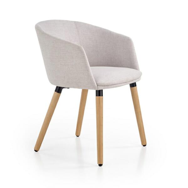 Тапициран стол с подлакътници в скандинавски стил (3 цвята)-светлосив