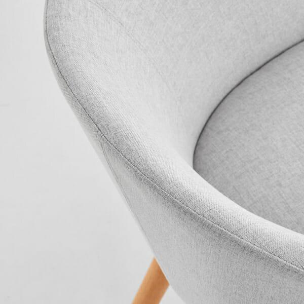 Тапициран стол с подлакътници в скандинавски стил (3 цвята)-светлосив детайл
