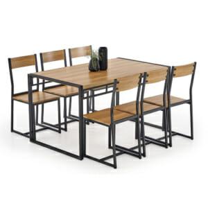 Трапезен комплект маса с 6 стола серия Bolivar