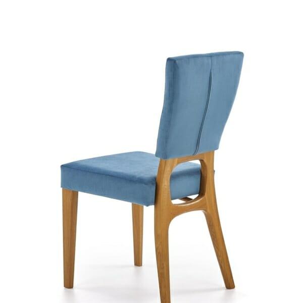 Трапезен стол от дърво с текстилна дамаска - диагонал