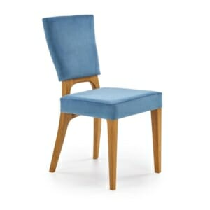 Трапезен стол от дърво с текстилна дамаска - заглавна