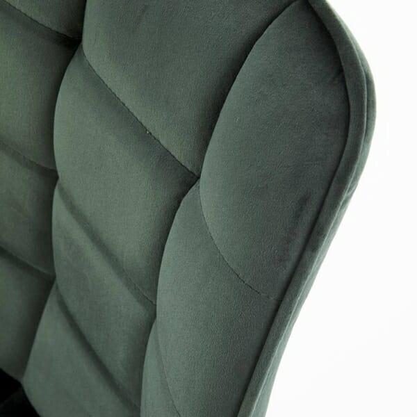 Трапезен стол с дамаска и метални крака (2 варианта) - дамаска