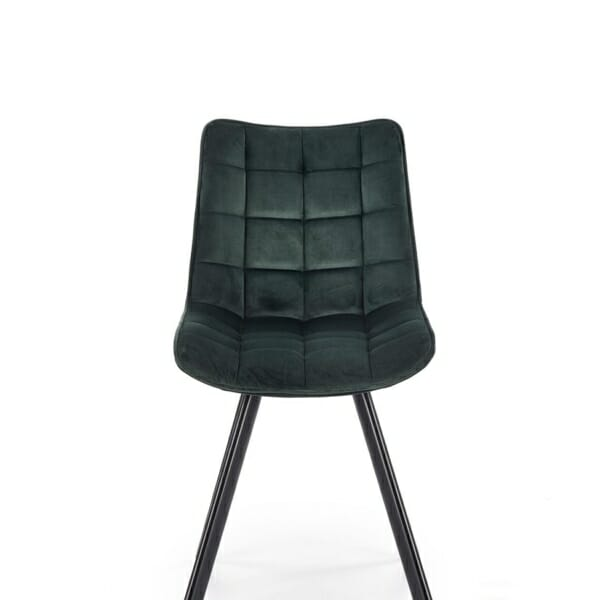 Трапезен стол с дамаска и метални крака (2 варианта) - отпред