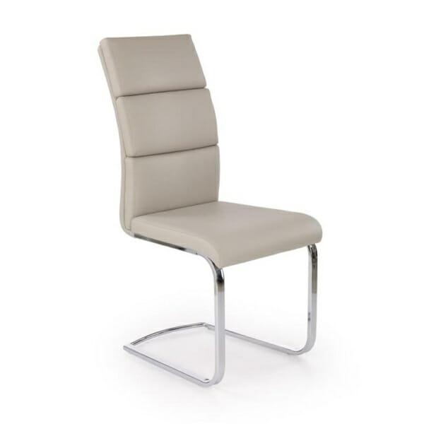 Удобен стол от еко кожа и метал в модерен стил (2 цвята)