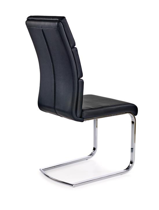 Удобен стол от еко кожа и метал в модерен стил (2 цвята)-черен гръб