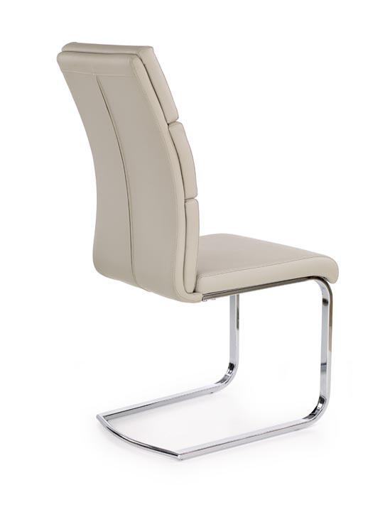Удобен стол от еко кожа и метал в модерен стил (2 цвята)-светлосив гръб