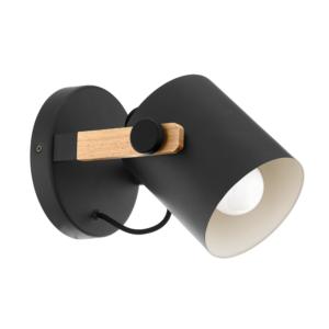 Модерен черен аплик с дървен акцент серия Hornwood