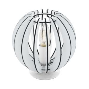 Кръгла настолна лампа с дървени ламели серия Cossano (2 цвята)