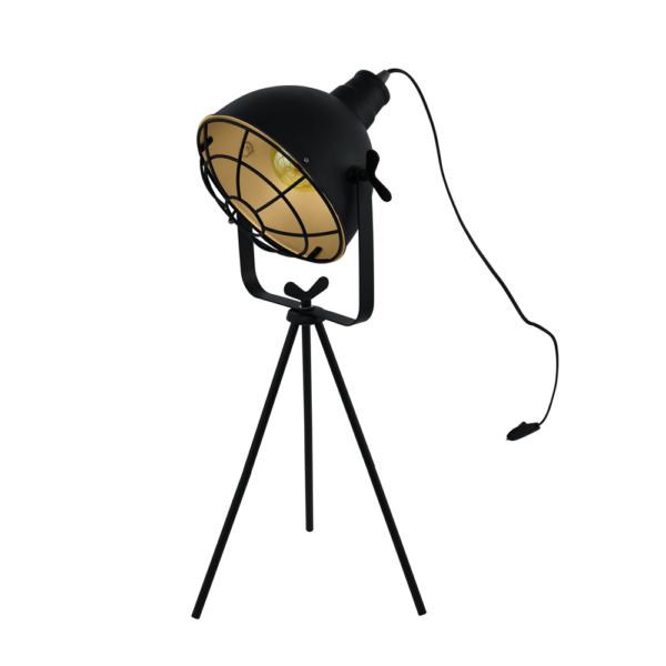 Настолна лампа в черно и златисто серия Cannington