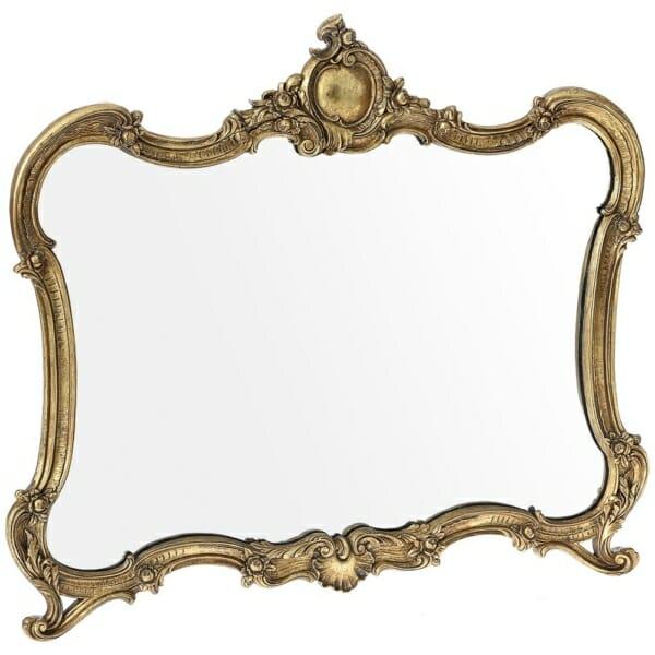 Антично огледало с изискана декорация и златисто покритие