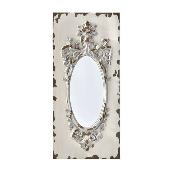 Антично стенно огледало с дървена релефна рамка - размер 2