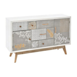 Дълъг шкаф от дърво с нежни орнаменти серия Prima