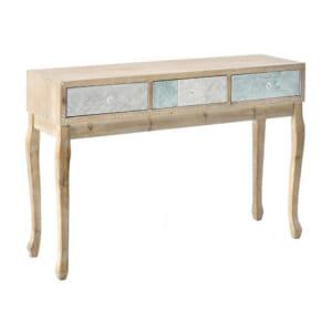 Дървена конзолна маса с 3 декорирани чекмеджета серия Flavia
