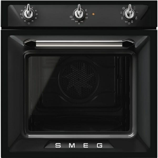 Фурна за вграждане с аналогов програматор SMEG (4 цвята) - черна