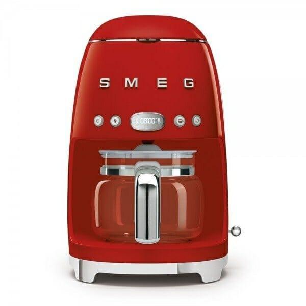 Кафемашина за шварц кафе с ретро дизайн SMEG (7 цвята) - червен