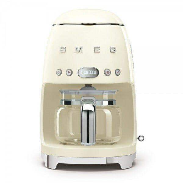 Кафемашина за шварц кафе с ретро дизайн SMEG (7 цвята) - крем