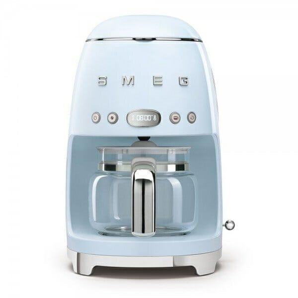 Кафемашина за шварц кафе с ретро дизайн SMEG (7 цвята) - пастелносин