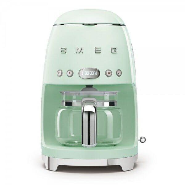 Кафемашина за шварц кафе с ретро дизайн SMEG (7 цвята) - пастелнозелен