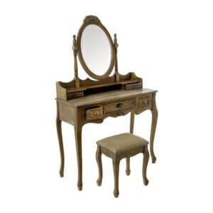 Класическа тоалетка с подвижно огледало и табуретка серия Boudoir