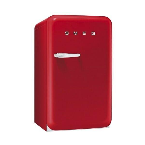 Мини хладилник с ретро дизайн SMEG (4 цвята) - червен