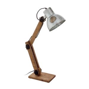 Настолна лампа от дърво и метал серия Frizington