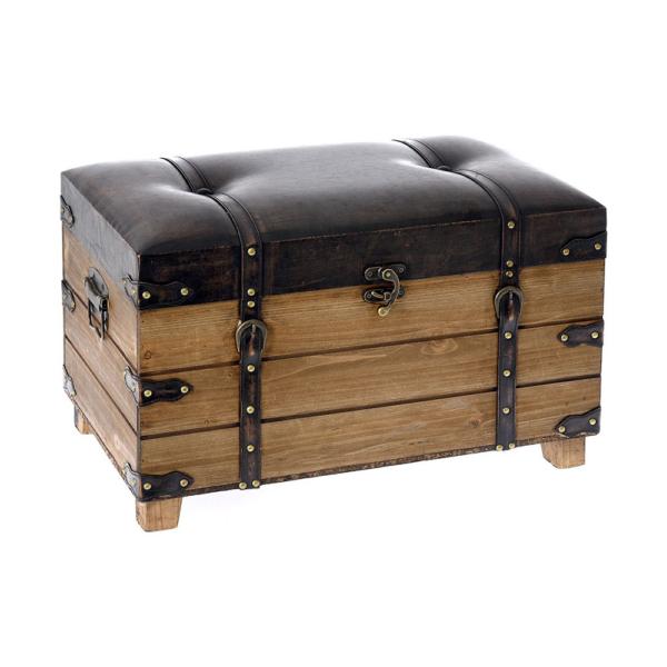 Ниска табуретка с място за съхранение имитираща куфар - размер 2
