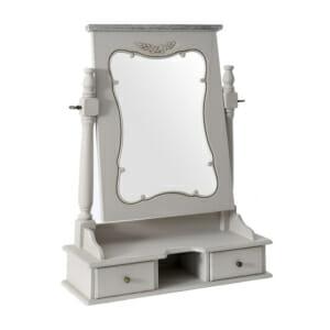 Подвижно настолно огледало с рафт и 2 чекмеджета серия Retrovo
