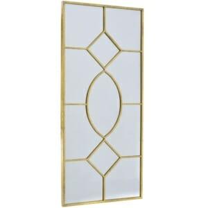 Правоъгълно златисто огледало като прозорец