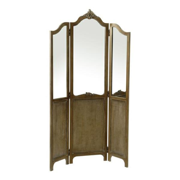 Сгъваем трикрилен параван с огледала серия Boudoir