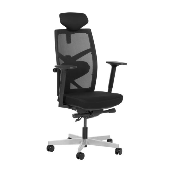 Удобен офис стол с много екстри (6 цвята) - черен