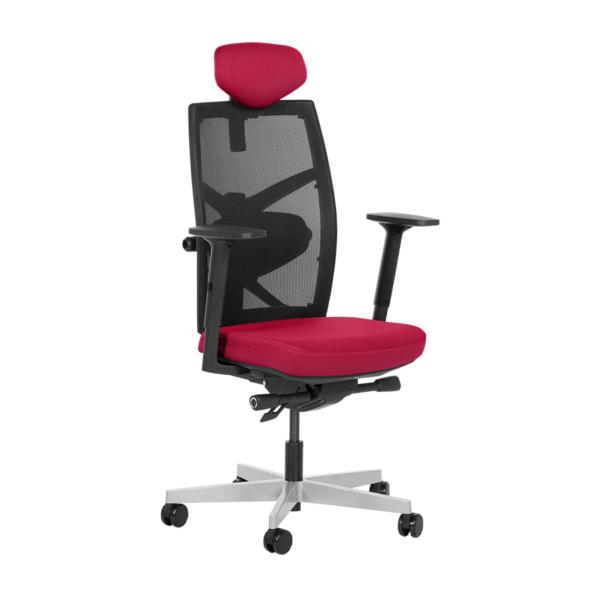 Удобен офис стол с много екстри (6 цвята) - червен
