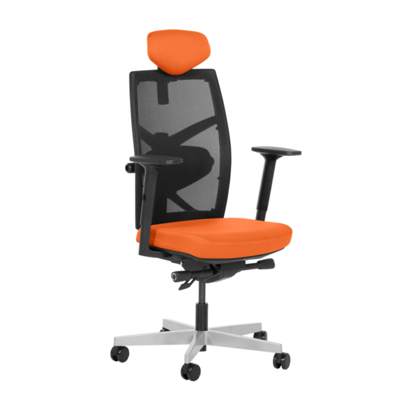 Удобен офис стол с много екстри (6 цвята) - оранжев