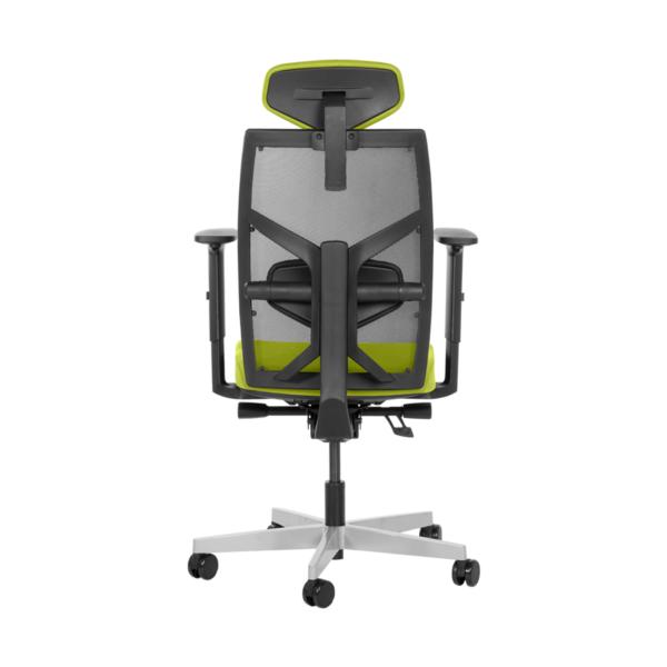 Удобен офис стол с много екстри (6 цвята) - отзад