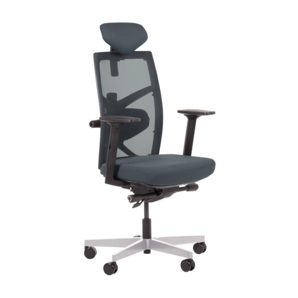 Удобен офис стол с много екстри (6 цвята) - сив