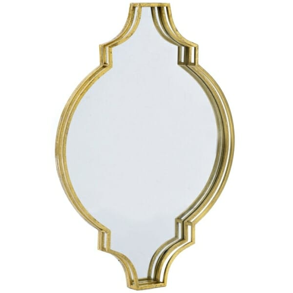 Златисто огледало с оригинална рамка в класически стил