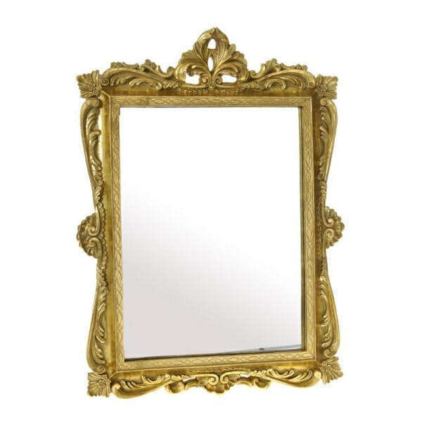 Златисто стенно огледало с декорация в античен вид