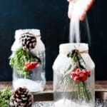 Коледна декорация в бурканче